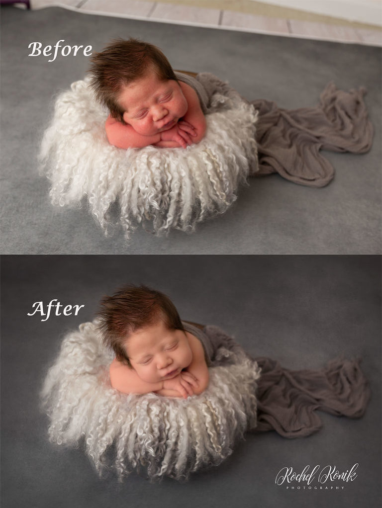 classic newborn portrait edits with newborn photographer Rochel Konik Photography